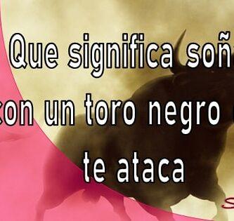 Que significa soñar con un toro negro que te ataca